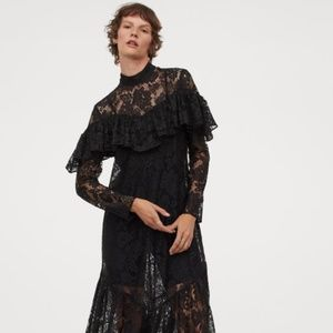 H&M New Arrival Black Lace Dress Size M